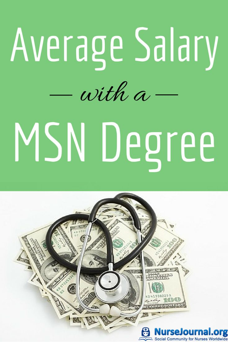 Nurses holding an MSN earn quite a bit more than ADN or BSN prepared. There is some great informaiton about the average Salary with a MSN Masters Degree that is a MUST READ for any nurse Source: http://nursejournal.org/msn-degree/what-is-the-average-salary-with-a-msn-nursing-degree/