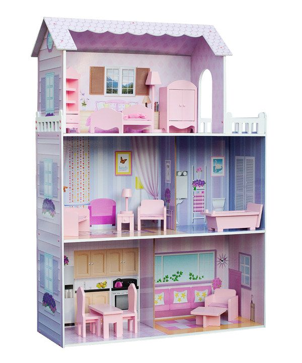 Look at this Fancy Mansion Dollhouse & Furniture Set on #zulily today!
