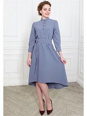 Платье po Pogode  Платье - рубашка асимметричной длины. Детали - воротник стоечка железные пуговицы (все расстегиваются) рукав 3/4 на манжете длина изделия (от плечевого шва) по спинке 120 см спереди 97 см глубокие потайные карманы. В комплекте идет широкий пояс-кушак (из той же ткани что и платье). Материал - креп-шерсть (80% шерсть 20% полиэстер). Ткань тонкая (но теплая) мягкая (не колется) приятная к телу. Бережная стирка при 30 градусах и низких оборотах.. Платье po Pogode промокоды…