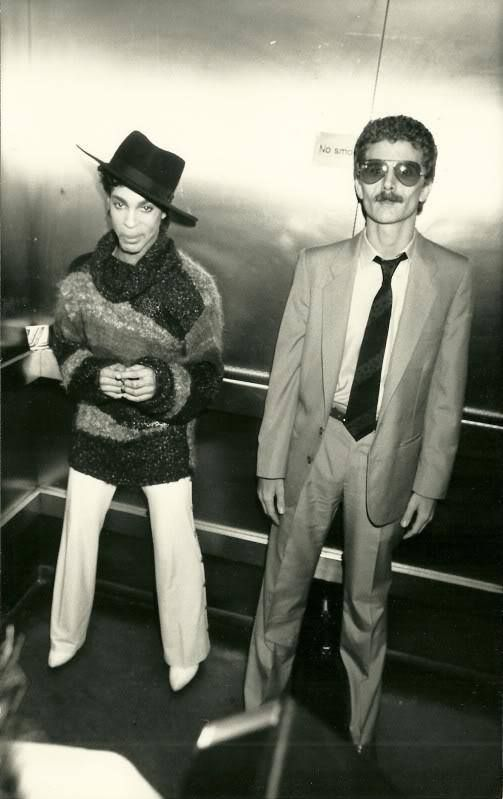 Prince & Alan Leeds (Tour Manager) 1986