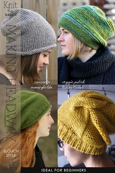 free slouch knit hat patterns