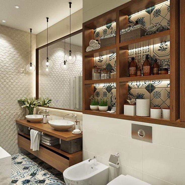 """913 Likes, 24 Comments - ДИЗАЙН ИНТЕРЬЕРА ДИЗАЙНЕР (@tarakanovadesign) on Instagram: """"Детская ванная комната для загородного дома. В меру яркая, выразительная, уютная и не скучная …"""""""