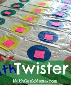 Math Twister! {A Fun Indoor Math Game!}
