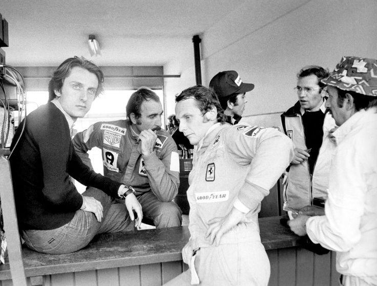 where is niki lauda today | Luca di Montezemolo with Niki Lauda and Clay Regazzoni during a break ...
