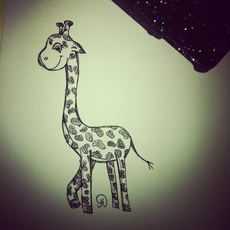 My love for giraffes is incredible :) giraffe illustration- Jessica Howson Design