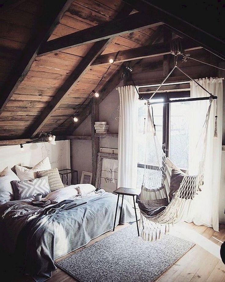 Loft Bedroomdesign: 63+ Sweety DIY Hipster Bedroom Decorations Ideas
