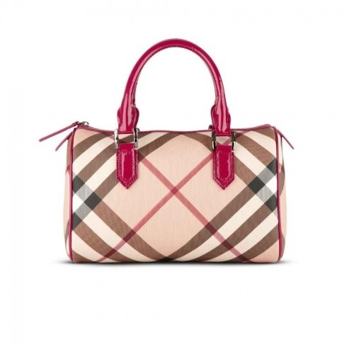 85724c518223 Burberry Nova Check Bowling Bag Raspberry Sorbet cheap for sale on the  burberry outlet store with