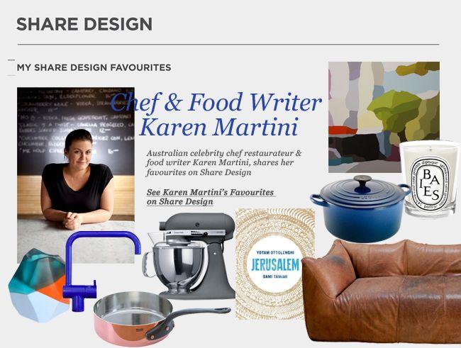Karen Martini Shares Her Favourites on sharedesign.com.