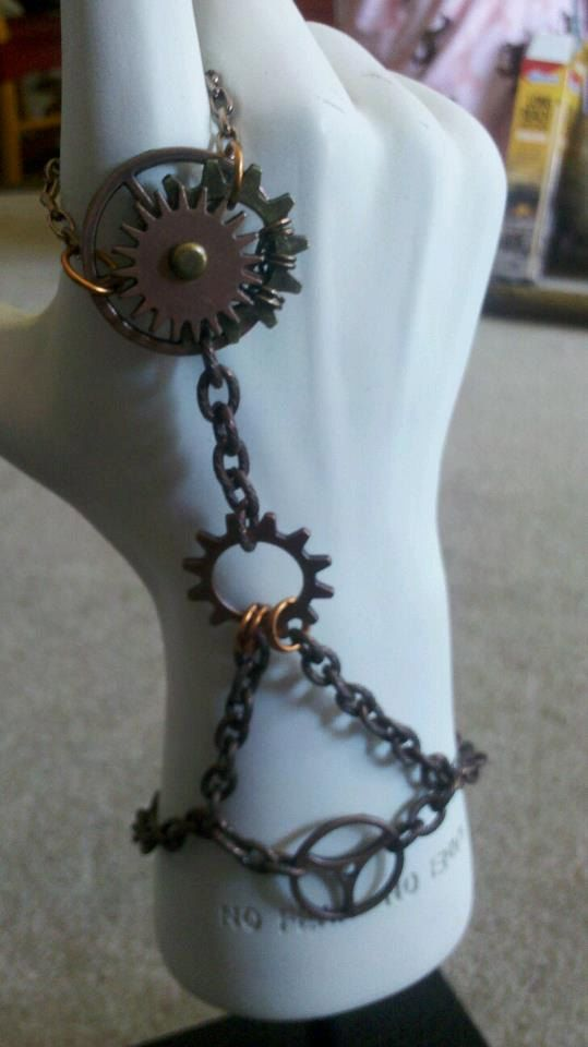 Steam punk hand chain