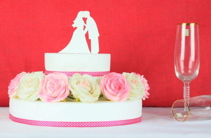 Bride & Groom Cake Topper Design #2