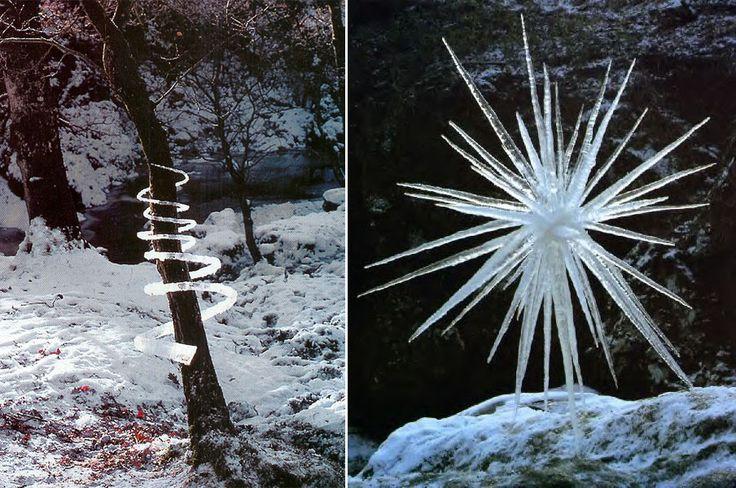 Ice Sculptures. Goldsworthy
