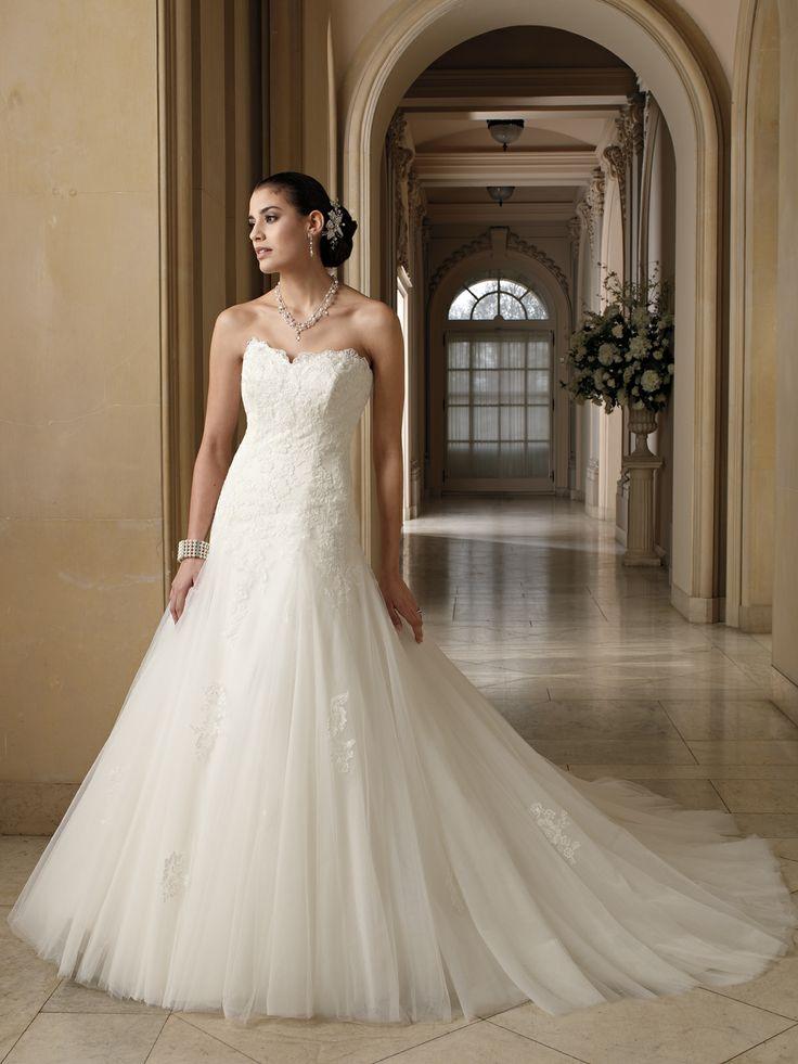 Darlene 212244 by david tutera for mon cheri this for Sweetheart neckline a line wedding dress