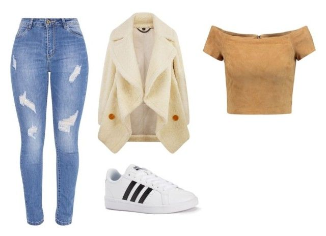 """Fuzzy Casual"" by juanaguzman on Polyvore featuring Burberry, Alice + Olivia and adidas"