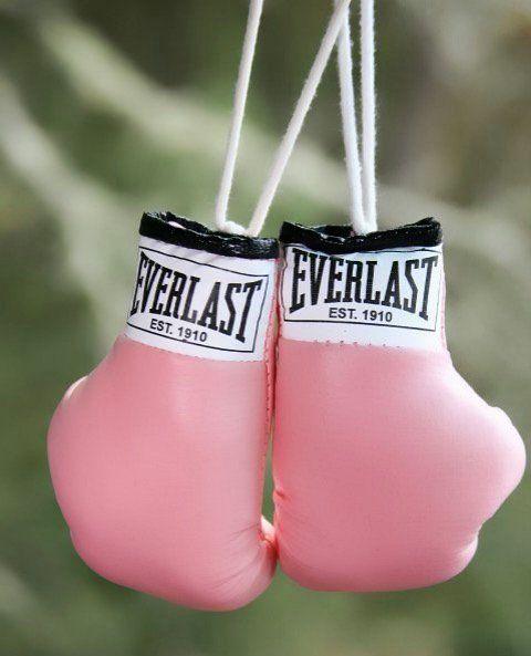 luva de boxe feminino cor de rosa