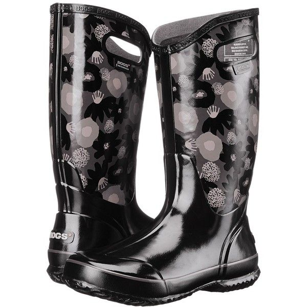 Bogs Watercolor Rain Boot Women's Rain Boots ($85) ❤ liked on Polyvore featuring shoes, boots, mid-calf boots, mid calf rain boots, rubber rain boots, bogs boots, rain boots and pull on boots