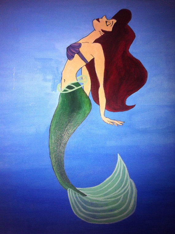 Disney's The Little Mermaid Acrylic Painting by Melbees on Etsy, £26 ...