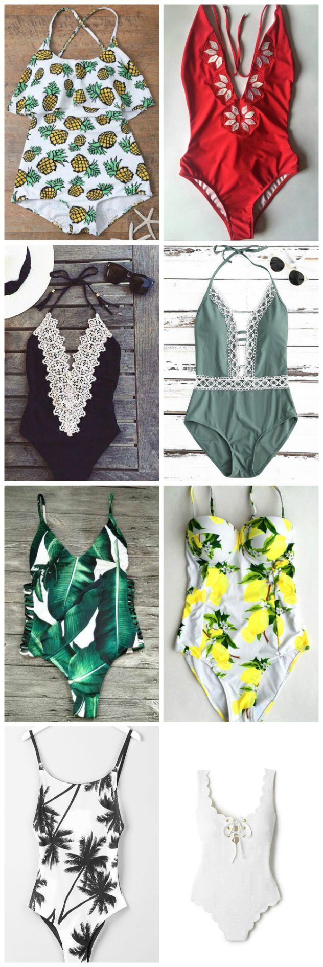 How to look absolutely fabulous at the beach ! Check out these one piece bathing suits!