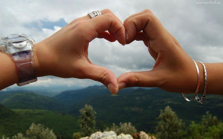 Niebo, Dłonie, Serce, Miłość