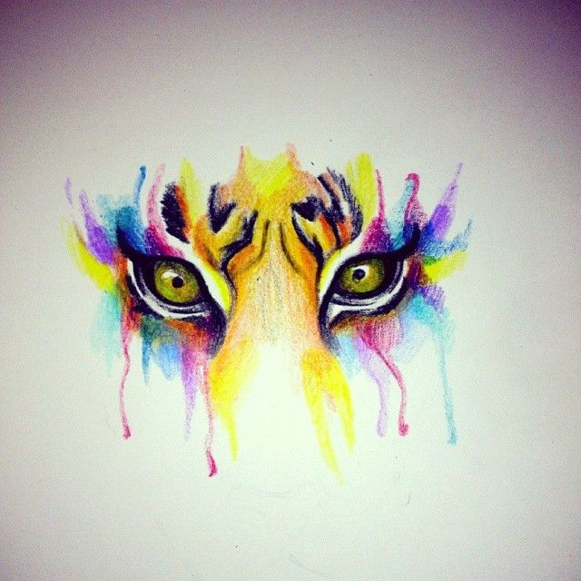 Watercolor cat eyes Tattoo, quite like it, but would prefer more realistic colours. Yes I know it's watercolour style, just… | Pencil Leads and Pigment | Pinte…