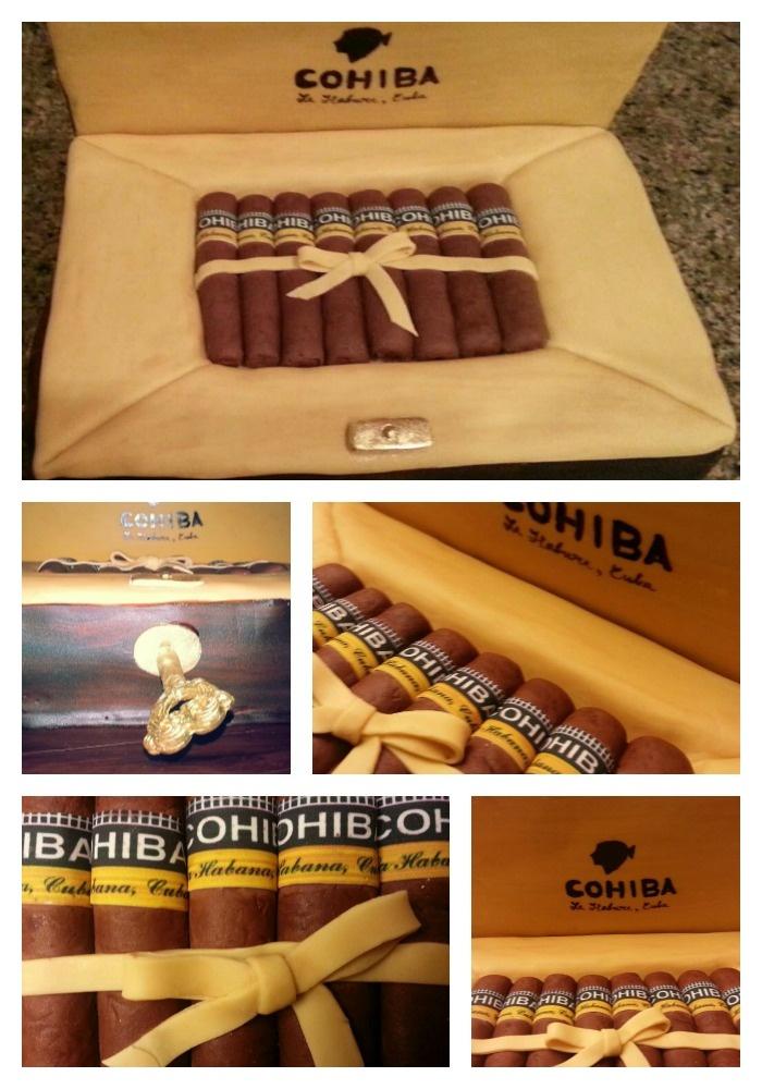 Cohiba Cigar Box Cake by D'lish Cupcake Lounge