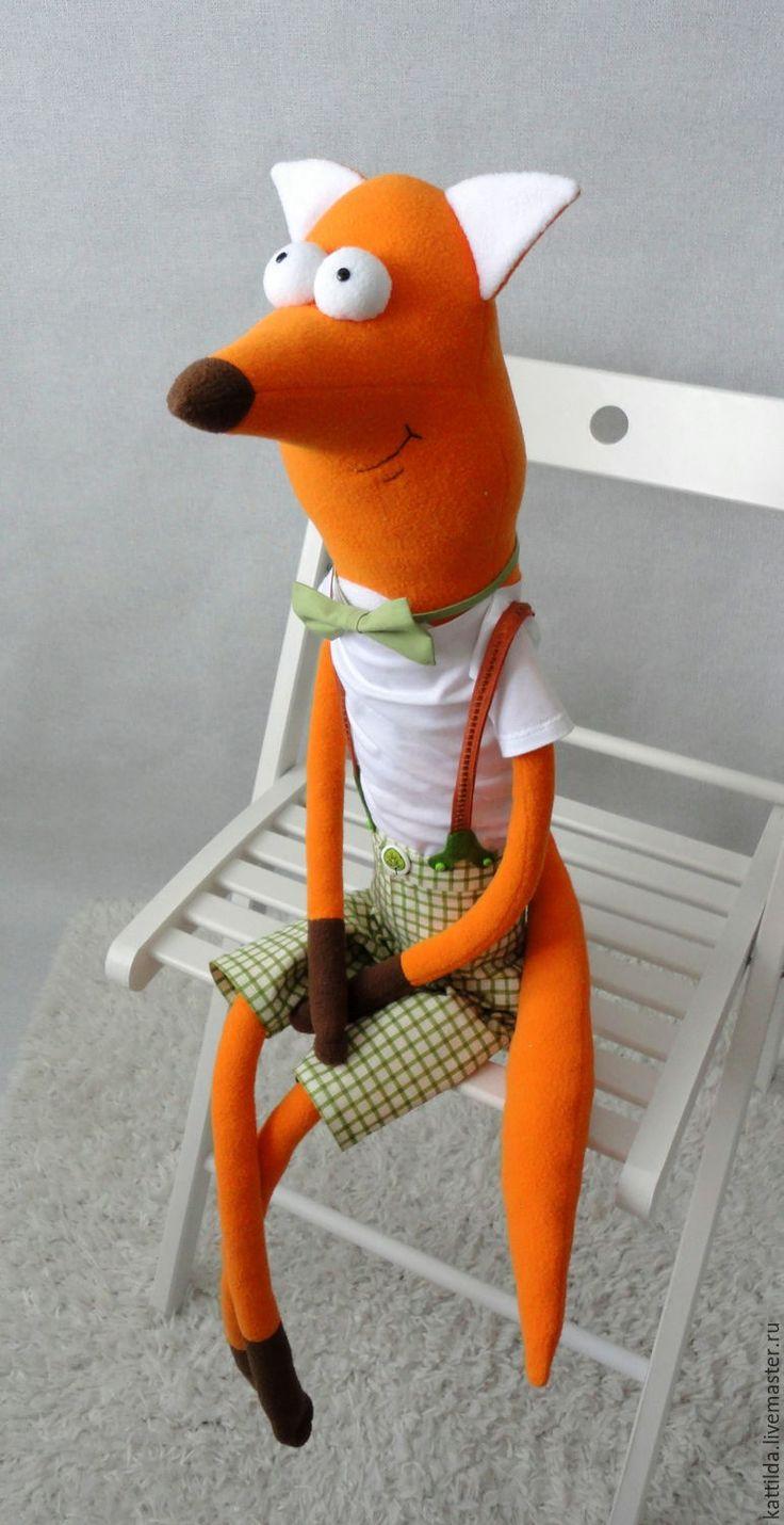 Купить Лис - рыжий, лис, лисица, прикольный подарок, мягкая игрушка, лисенок, игрушка лиса