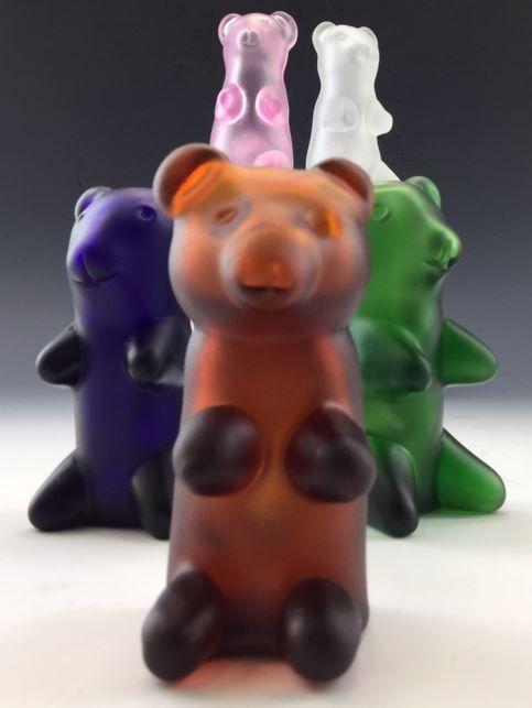 Gummy Bear Glass Tobacco Pipe  Q023 by ApolloGlassworks on Etsy