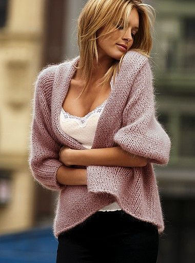 Cashmere pale plum cardigan and comfy white tank top. Yes. Fall fashion.