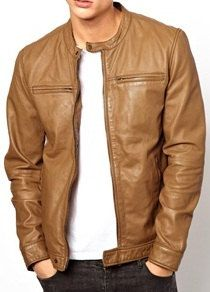 Mens Light Brown Leather Jacket Sel Laurence Leather Jacket In ...