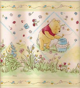 Nice Winnie the Pooh wallpaper border baby nursery wall decal sticker classic decor