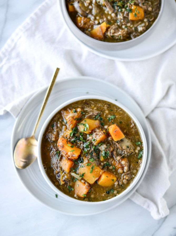 butternut beef stew with pearl couscous I howsweeteats.com
