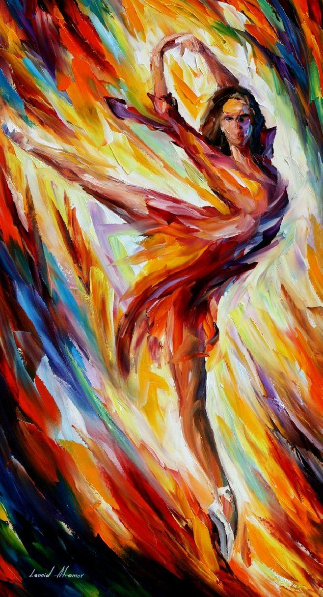 The Sky Dance — PALETTE KNIFE Figure Oil Painting On Canvas By Leonid Afremov…