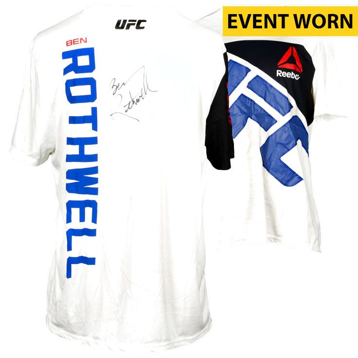 Ben Rothwell Ultimate Fighting Championship Fanatics Authentic Autographed UFC Fight Night: Johnson vs. Bader Event-Worn Walkout Jersey - Defeated Josh Barnett via Second Round Submission - $279.99