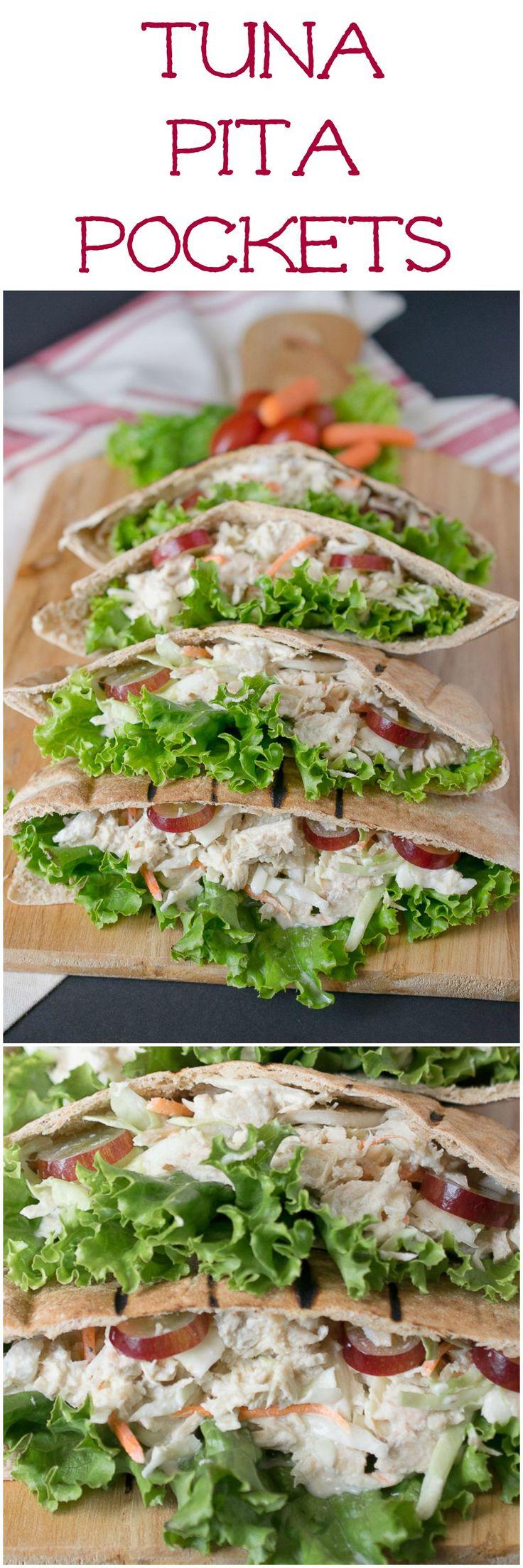 Tuna pita pockets - Quick dinner idea for weeknights. By @culinaryginger #bumblebee