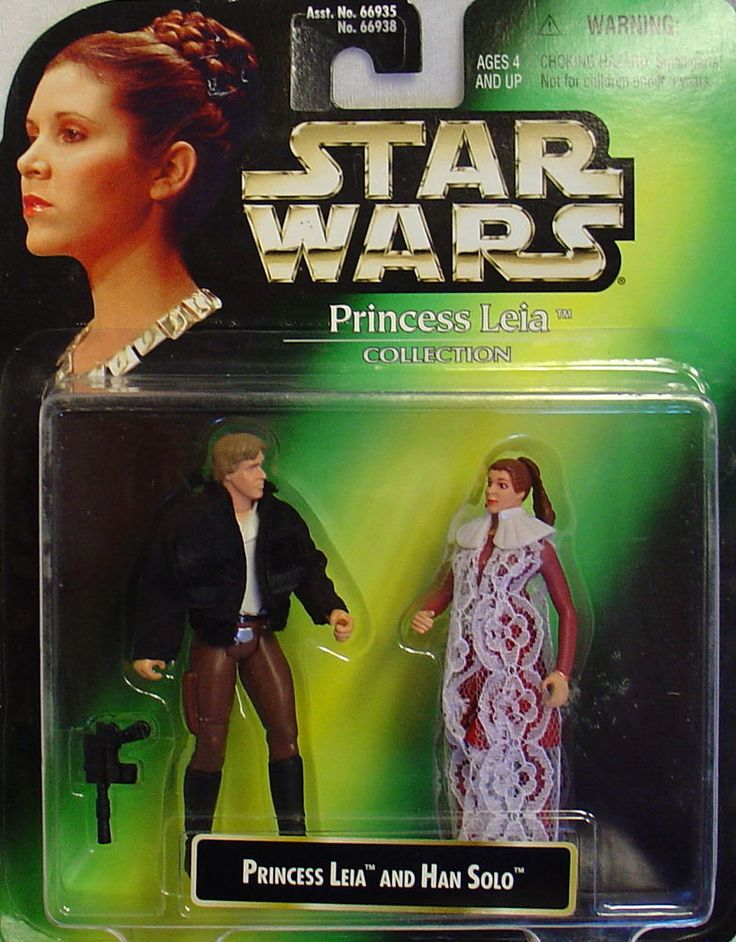 STAR WARS-PRINCESS LEIA&HAN SOLO-PRINCESS LEAI COLLECTION-1997-CARD-KENNER-RARE!