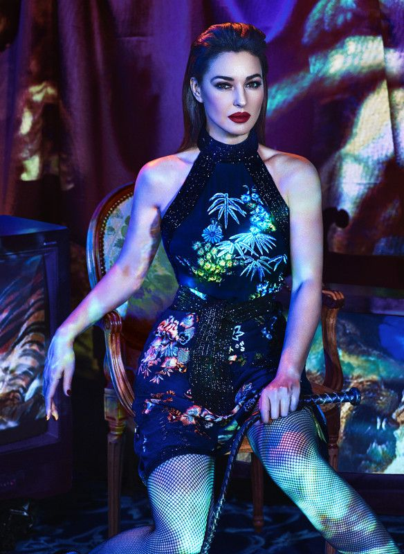 Bond girl Monica Bellucci styled by Alexis Roche with photography by Hunter & Gatti and set design from Studio Cabouat Sylvain - set design See more here: http://www.mfilomeno.com/stylists/alexis-roche/editorial/marie-claire-monica-bellucci/