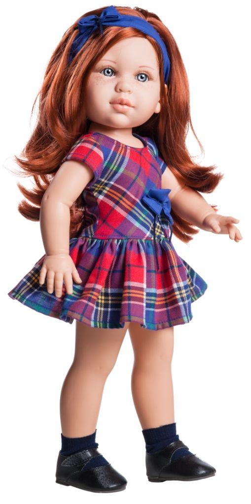 Realistická panenka Becky v kostkovaných šatech  od f. Paola Reina