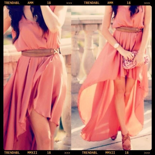 Flowy and free fitting.Summer Dresses, Fashion, High Low Dresses, Flowy Dresses, Style, Highlow, Bridesmaid Dresses, Maxis Dresses, The Dresses