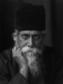 A portrait of Rabindranath Tagore, the Bengali poet and philosopher, 1920 -by E.O. Hoppé