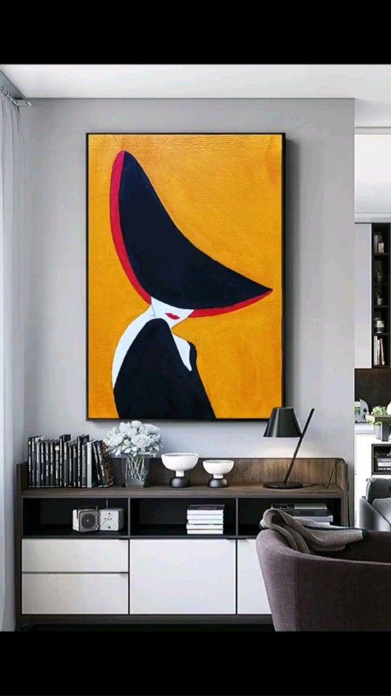 Easy Canvas Art, Small Canvas Art, Easy Canvas Painting, Diy Canvas, Human Painting, Creative Wall Painting, Black Canvas Paintings, Oil Pastel Paintings, Painting Abstract