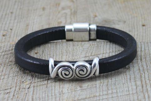 Thick Leather Celtic Men's Bracelet