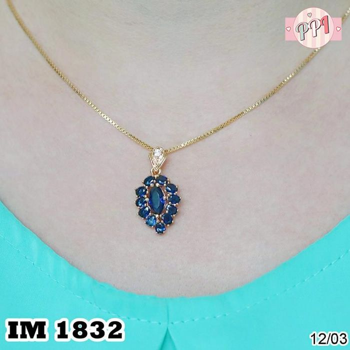 Jual Perhiasan Kalung Emas Permata Blue Shafire M 1832 - Pusat Perhiasan Imitasi   Tokopedia