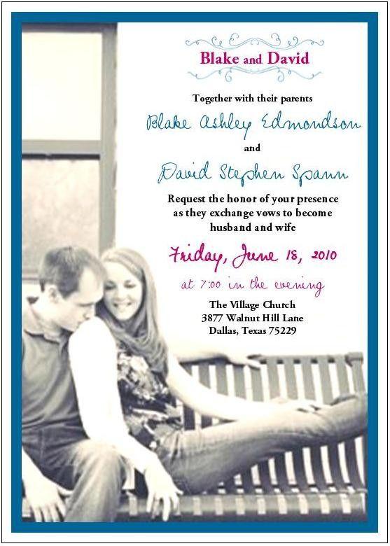 photo wedding invite suite