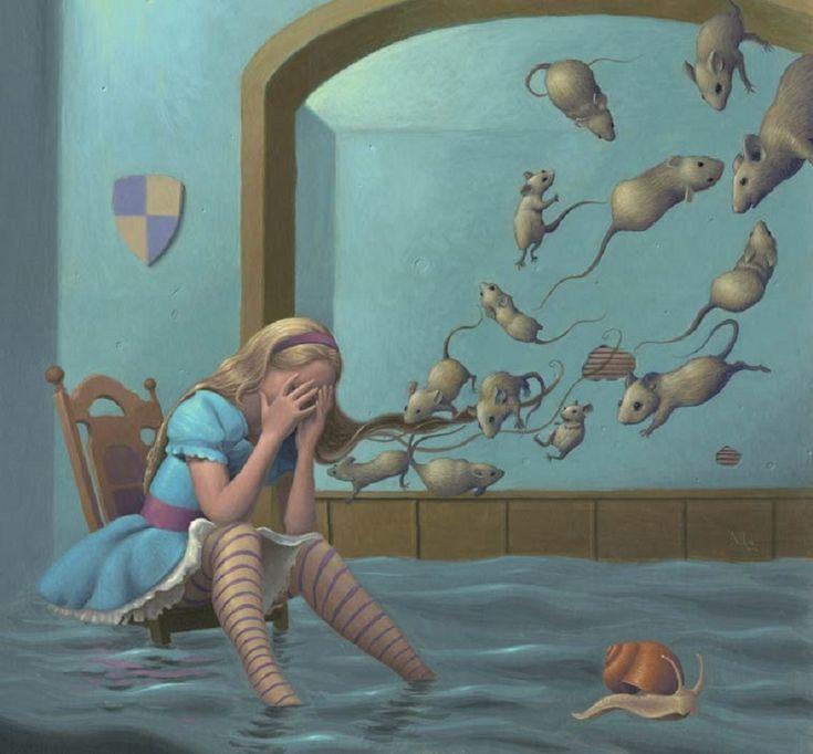 серия Марка Эллиота, который ведет нас в сказочную и сюрреалистическую вселенную, где стирается тонкая грань между грнзами и кошмарами. Мир, вдохновленный страхами и мечтами, заселенный видениями детства.... Недавно художник закончил иллюстрации к шестой книге Эндрю Клементса. Марк выставляется в различных группах поп сюрреалистического движения. Он участвовал в выставках в нескольких галереях в Соединенных Штатах и Германии. А первая персональная выставка состоялась в галерее Дороти в…