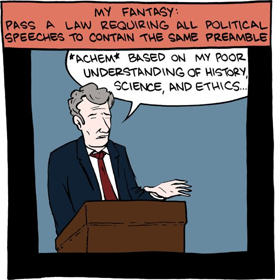 if political speeches carried the same caveats as scientific presentations