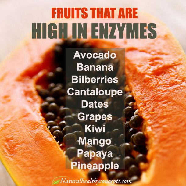 Eat enzyme rich foods like these - and if you still could use help with digestion and absorbing more nutrients, consider an enzyme supplement. Enzymes are essential!