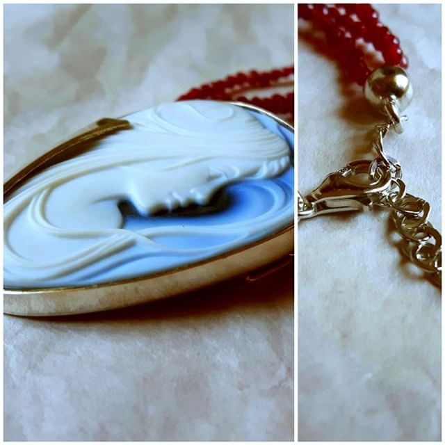 Details aren't negligible!   #cameojewelry #donadiojewelry #blueagate #agatestone #necklace