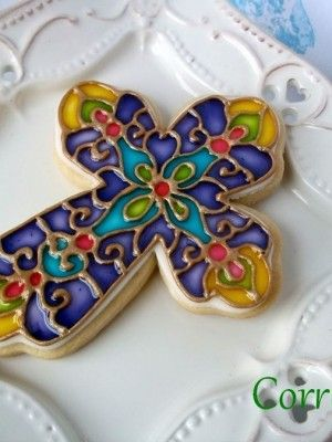 Top Decorated Cookies - Top Cakes - Cake Central, WOW!!! Looks like a piece of stained glass