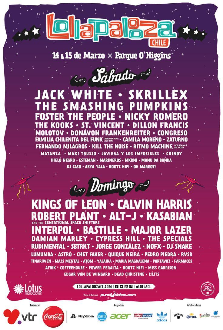 Lollapalooza Chile 2015 lineup