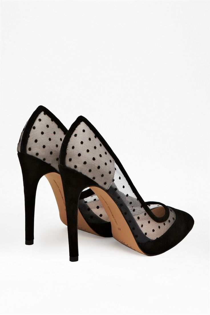 Camleigh Suede Polka Dot Heels - Shoes - French Connection Usa