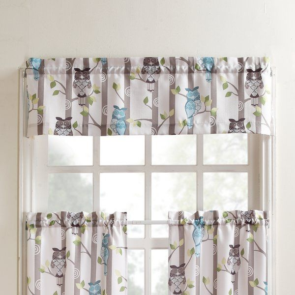 Complete Your Whimsical Owl Theme With These Hoot Curtain Valance From No 918 Window Valance Valance Curtains